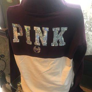 PINK Victoria's Secret Tops - PINK Victoria's Secret Quarter-Zip Pullover